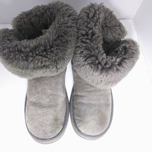 UGG Shoes - UGG 5803 Short Bailey Gray Suede Leather Boots Sz8
